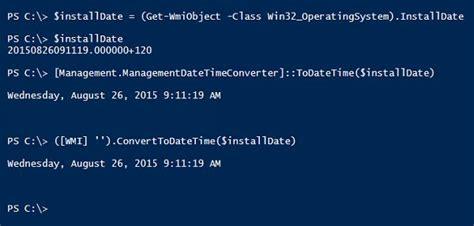 format date powershell powershell tip 7 convert wmi date to datetime