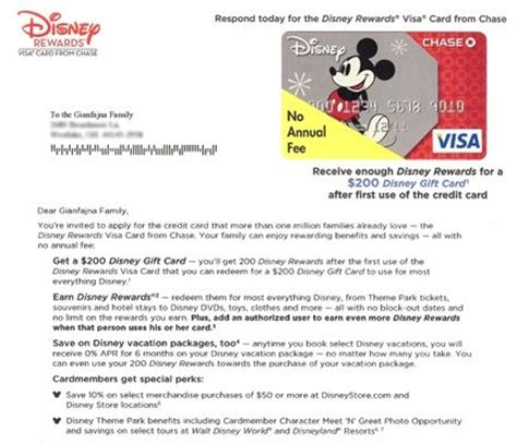 Credit Card Restructure Letter Disney Uses Direct Letter Marketing To Try To Get To Sign Up For Its Credit Cards They