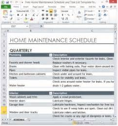 home repair checklist template free home maintenance schedule and task list template for