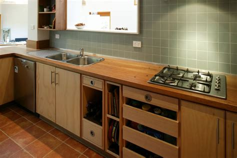 timber kitchen bench select custom joinery plywood kitchen with recycled