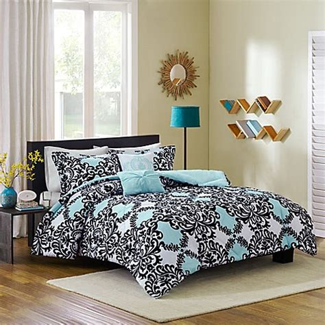 cozy soft 174 mia reversible 4 5 piece comforter set bed