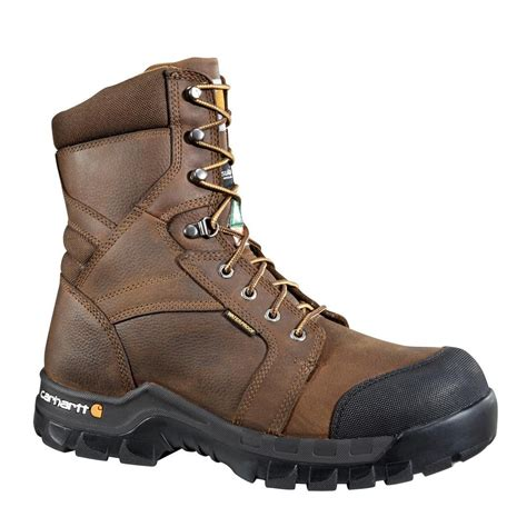 carhartt rugged flex 6 work boots leather s carhartt puncture resistant s 13w brown leather rugged