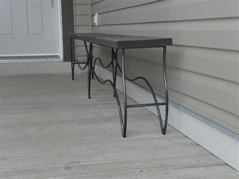 wrought iron indoor bench wrought iron bench with distressed pine seat modern