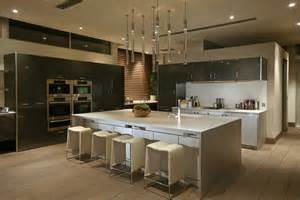 Modern Kitchen Island Design by Spectacular Mansion On Blue Jay Way By Mcclean Design