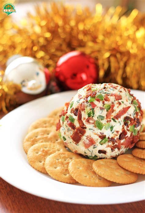 cocina facil de navidad bola de queso con tocino y jalape 241 o receta para navidad