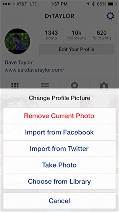 my instagram layout changes how do i change my instagram profile photo pic ask dave