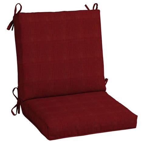 Patio Chair Cushions Mid Back Hton Bay Chili Mid Back Outdoor Chair Cushion
