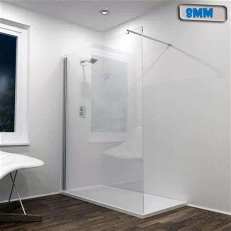 Vanity Units Wall Hung Jupiter 1200mm Wet Rooms Shower Screen Panel Silver