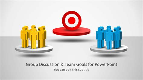 ppt templates for group discussion group discussions team goals template for powerpoint