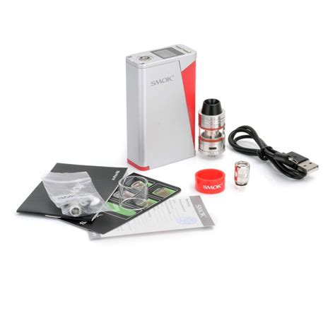 Smok H Priv 220w Tc Kit With Micro Tfv4 Atomizer authentic smoktech smok h priv tc vw box mod micro tfv4 silver kit