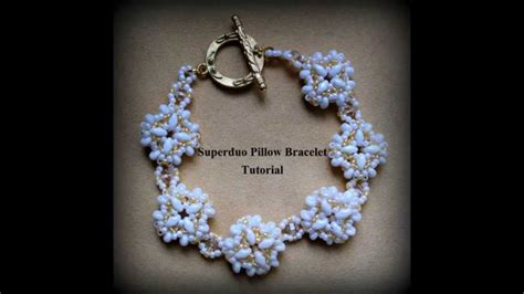 Beading tutorial DIY   Pillow bracelet with Superduo / Twin, Swarovski bicones & seed beads