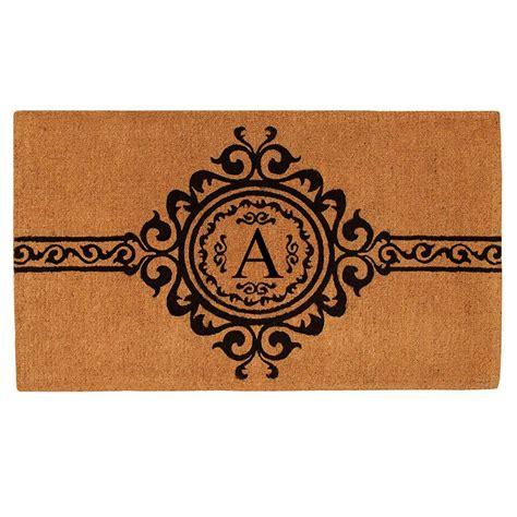 Doormats With Initials by Garbo Monogram Doormat Callowaymills