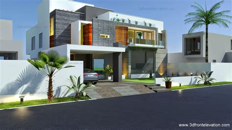 contemporary house designs 3d front elevation beautiful modern contemporary house elevation 2015 house plan design