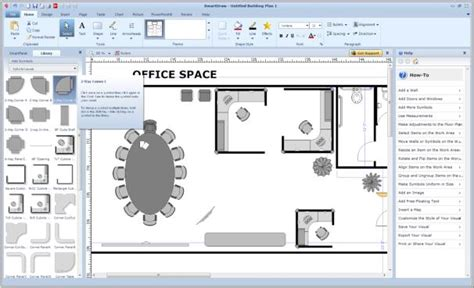 how to create a floor plan in word make charts forms maps and more with smartdraw vp