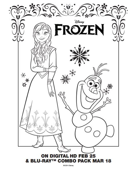 frozen color sheets frozen page 1 coloring pages