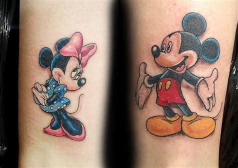 mickey mouse and minnie mouse couple tattoos mickey mouse pictures studio design gallery