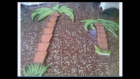 como hacer una palmera de papel palmera en porespam o poroplast youtube