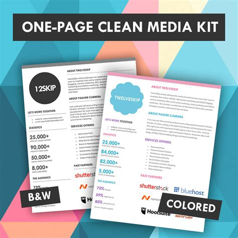 advertising media kit template one page media kit template https www etsy listing