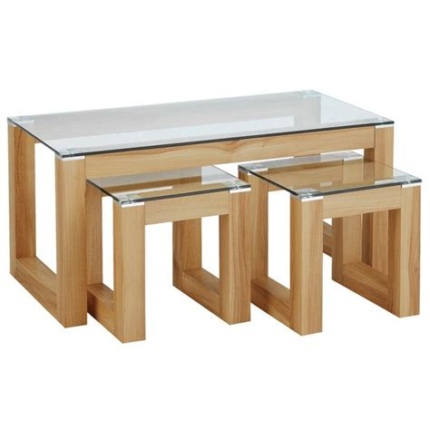 coffee and side table set buy hygena cubic coffee table set with 2 side tables at