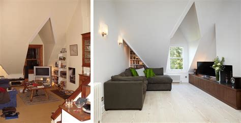 Interior Design Before And After by Before And After Loft Conversion Sitting Room