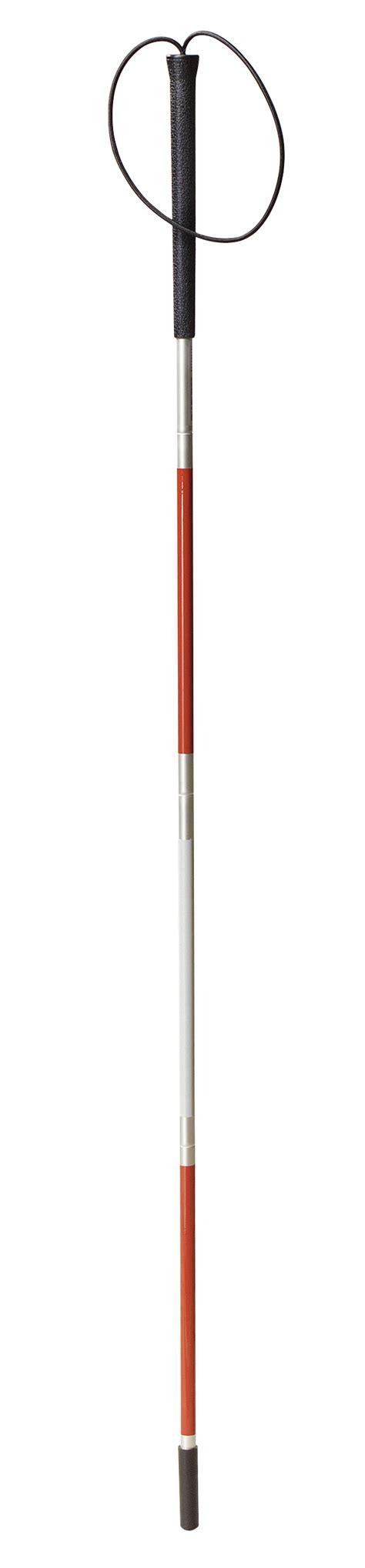 Blind Cane Color Blind Cane Folding Walking Stick Wrist Strap Red Reflector