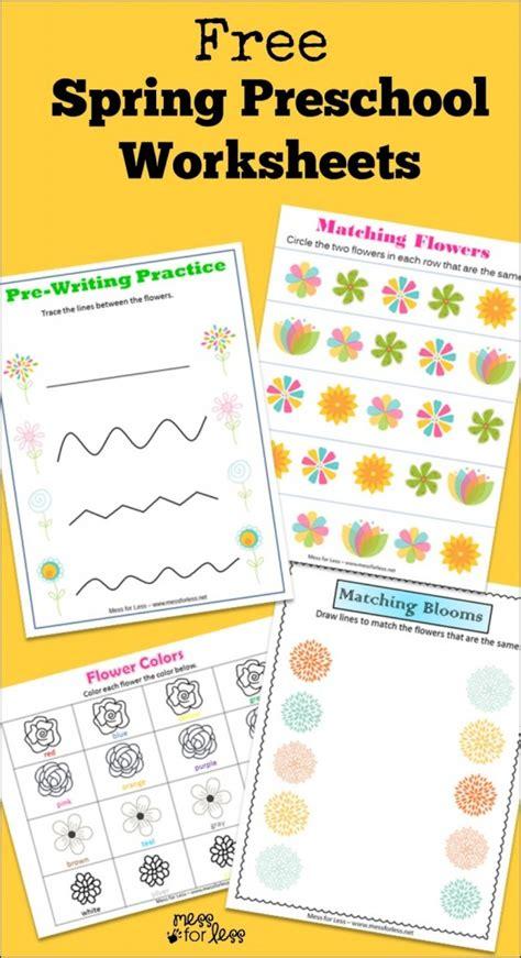 free printable preschool spring activities free spring preschool worksheets mess for less