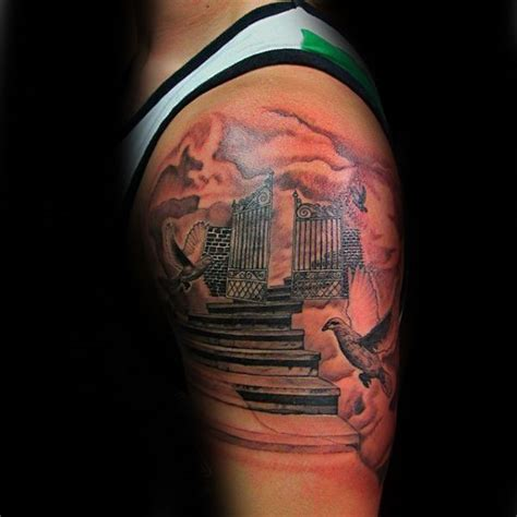 stairway tattoo designs best 25 heavens gate ideas on heaven
