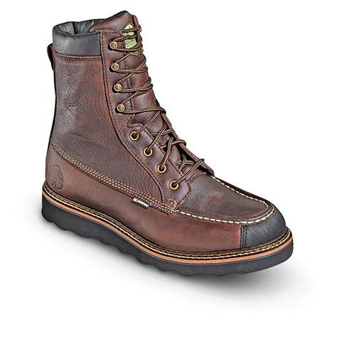 mens wedge boots s 8 quot waterproof breathable wood n stream flyway moc