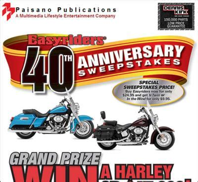 Anniversary Sweepstakes - florida motorcycle events