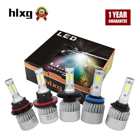 Lu Mobil Led H4 2 Cob 2pcs 2pcs h4 led h7 h11 9005 9006 hb4 cob chip s2 auto car headlight 72w 8000lm high low beam all in