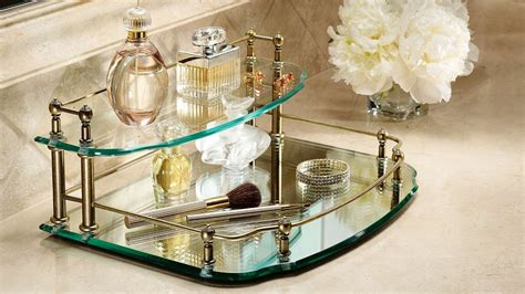Mirrored Vanity Tray For Dresser by Awesome Mirrored Vanity Tray Doherty House Mirrored
