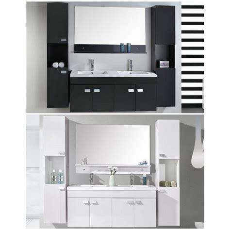 lade di ceramica arredo bagno 120 cm nero o bianco doppio lavabo in