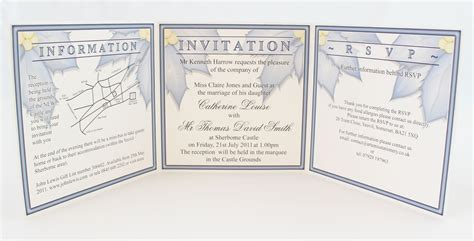 Tri Fold Invitation Template Essential And Optional Information For Wedding Invitations A S Invites