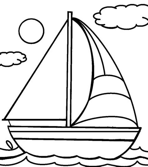 Galerry free coloring pages of boats