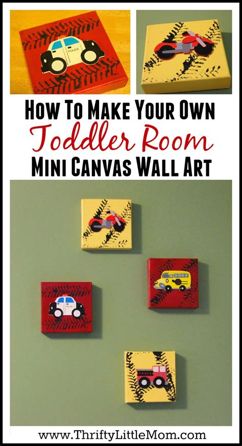 mini canvas wall art for a toddler room 187 thrifty little mom