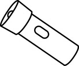 Black And White Flashlight Clip Art Image  sketch template