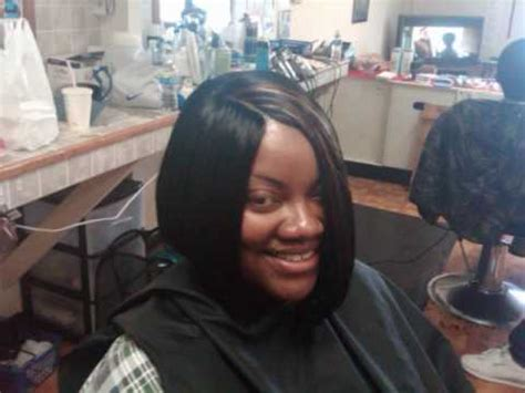 pictures of weave in with a stokin cap for kids invisible part quickweave asymetric bob hairstyle w gro