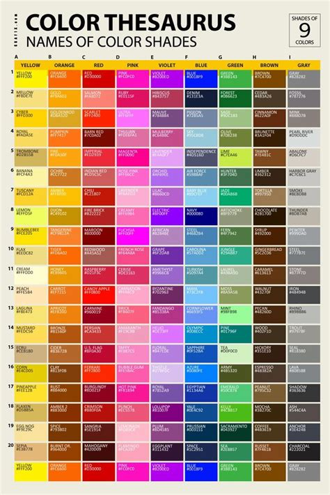 colors in list 7 best color names images on color names