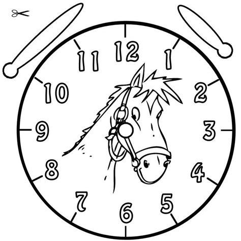 Kostenlose Vorlage Uhr Kostenlose Malvorlage Uhrzeit Lernen Ausmalbild Pferdchen Zum Ausmalen