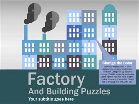 factory puzzles a powerpoint template from