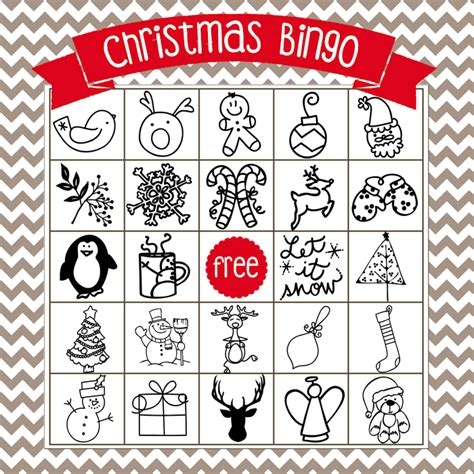 printable christmas bingo game cards printable christmas bingo game in english and spanish
