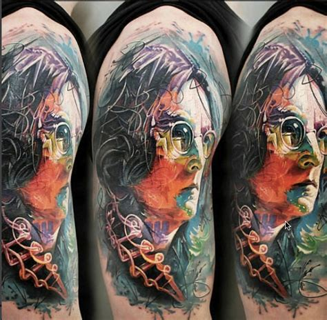 john lennon tattoo 24 amazing lennon tattos part 1 the beatles