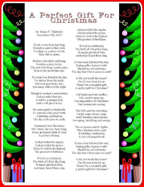printable christmas recitations preschool funny poems just b cause