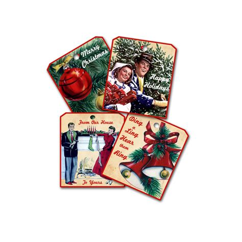 retro christmas gift tags fun retro mid century christmas