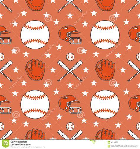 video player pattern baseball softball sport game vector seamless pattern