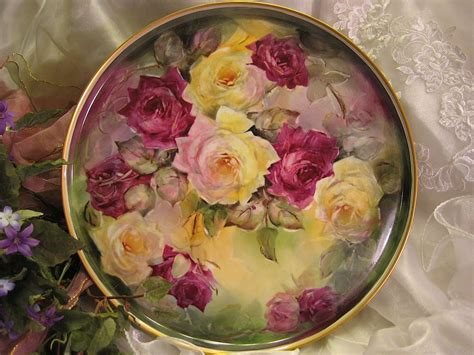Vintage Flower L by Quot Stunning Roses Quot Absolutely Gorgeous Large 13 7