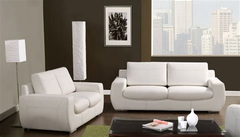 contemporary white leather living room set modern sofa furniture of 2 piece america orleans contemporary