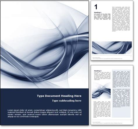 word templates for cover pages royalty free abstract curves microsoft word template in blue