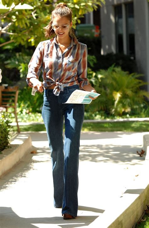 jessica alba flare jeans flare jeans its in the details the raw denim bar