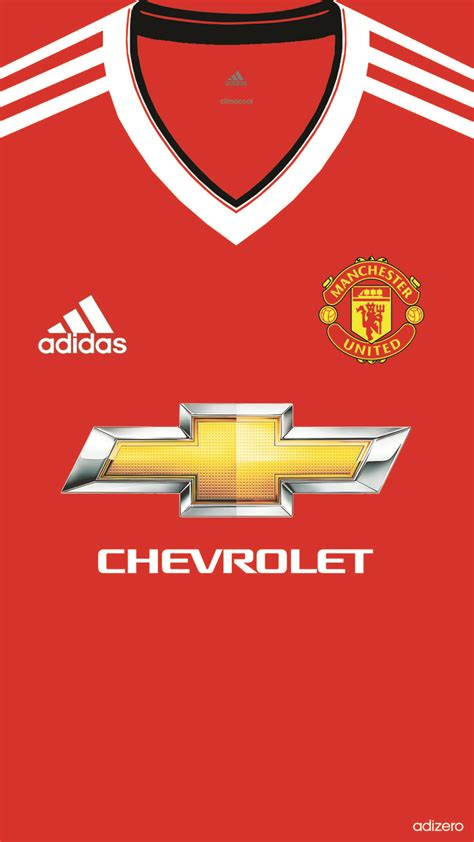 wallpaper manchester united adidas 2015 manchester united home kit 2015 16 iphone 5 5s 6 wallpaper